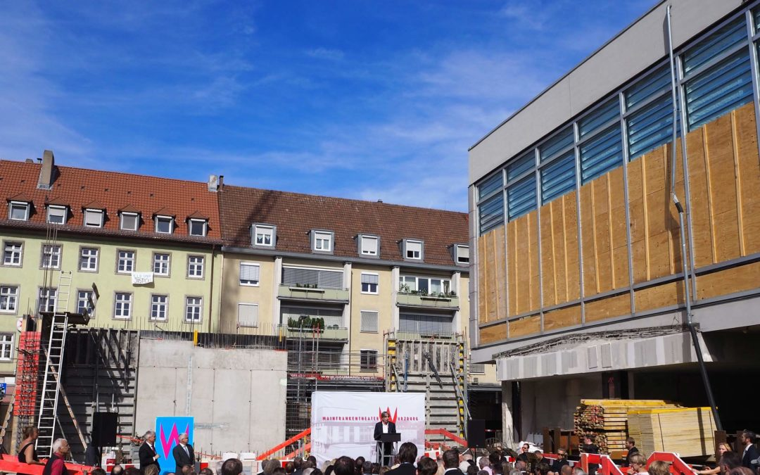 Grundsteinlegung beim Mainfrankentheater