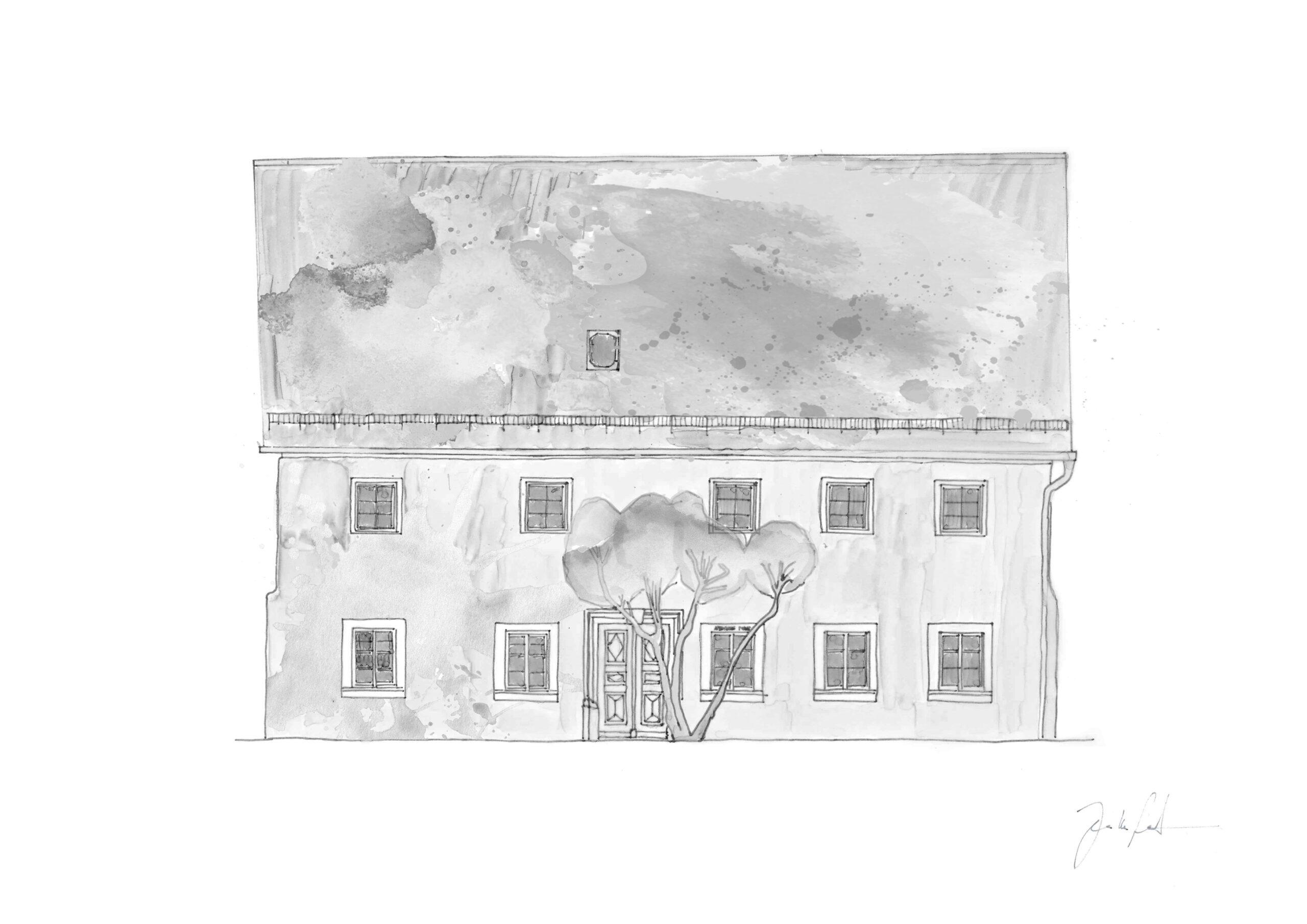 Zeichnung Schusterhaus Sanspareil